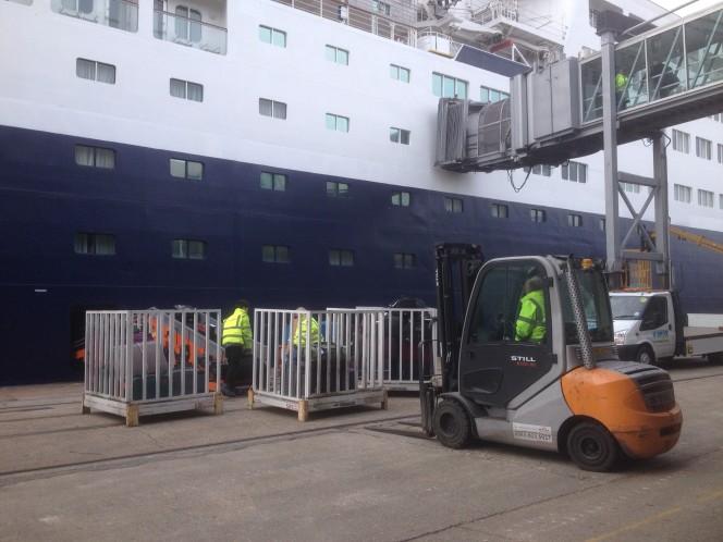 Loading Saga Cruise Ship in Southampton